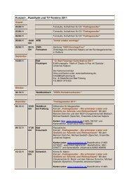 Konzert- , Rundfunk und TV-Termine 2011 - Johannes Kalpers