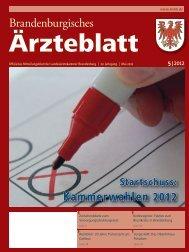 Ausgabe 05/2012 - Landesärztekammer Brandenburg