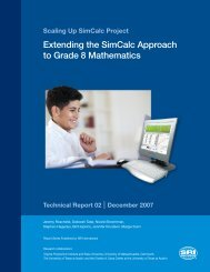 Scaling Up SimCalc Project - Center for Technology in Learning ...