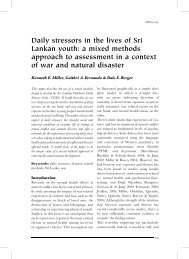 Daily stressors in the lives of Sri Lankan youth: a mixed ... - Index of