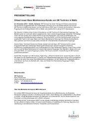 PRESSEMITTEILUNG Orbest neuer Base ... - SR Technics