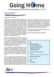 Going Home Nr. 1 / April 2012 - admin.ch