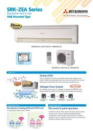SRK-ZEA Series - Refrigeration Engineering Co Ltd