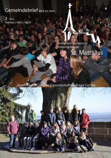 Gemeindebrief Februar/März/April 2012 - St. Matthäus Vach