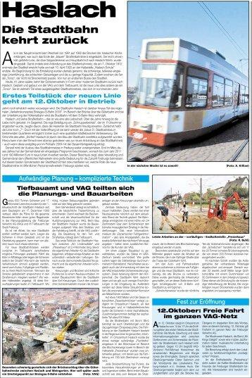 Die Stadtbahn kehrt zurück - Stadt Freiburg im Breisgau
