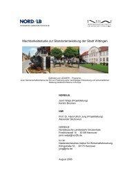 Machbarkeitsstudie zur Standortentwicklung der Stadt Wittingen - NIW