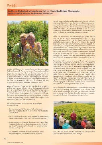 Redaktionelle Beiträge aus unserem Katalog 2011 - Bingenheimer ...