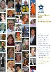 Annual Report 2010 & 2011 Highlights - Lung Cancer Alliance