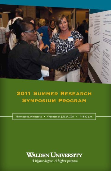 2011 Summer Research Symposium Program - Research Center ...