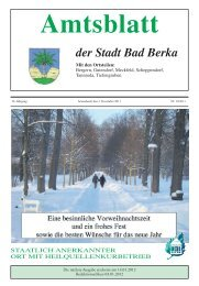 Amtsblatt der Stadt Bad Berka - Kurstadt Bad Berka
