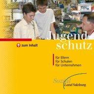 Jugendschutz Broschüre des Land Salzburg (PDF ... - Stadt Salzburg