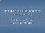 Regional- und Stadtmarketing eine Einführung - Prof. Dr. Jürgen ...