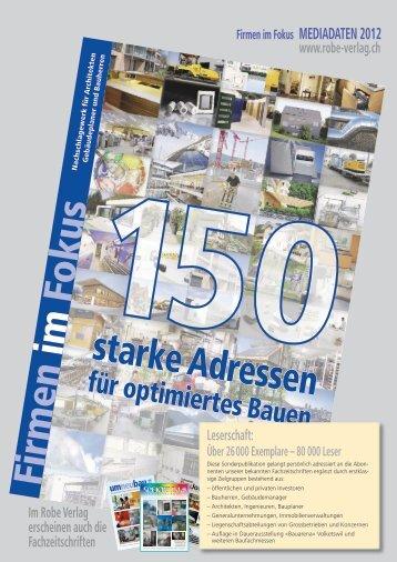 Firm en im Fokus starke Adressen - Robe Verlag AG