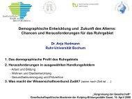 Demographische Entwicklung Und Zukunft Des Alterns - Fakultät für ...