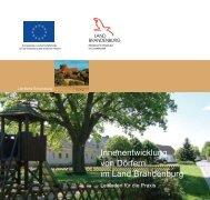 Leitfaden - Innenentwicklung von Dörfern im Land Brandenburg