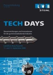 130 Teilnehmer besuchten am 11. und 12. September die Tech ...