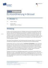 EBD Exklusiv - Netzwerk Europäische Bewegung Deutschland