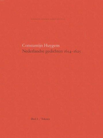 Constantijn Huygens - Textualscholarship.nl