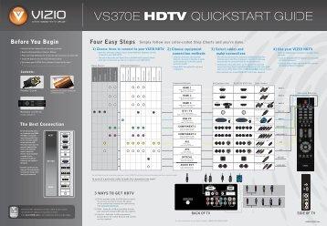 VIZIO \/S37OE HDTV QUlCl