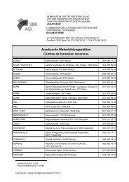 Anerkannte Weiterbildungsstätten Centres de formation reconnus