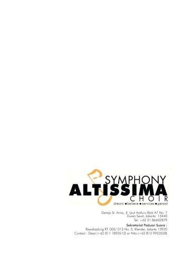 Symphony Altissima - Gereja St. Anna – Paroki Duren Sawit