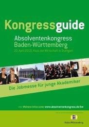 Absolventenkongress Baden-Württemberg - Staufenbiel.de