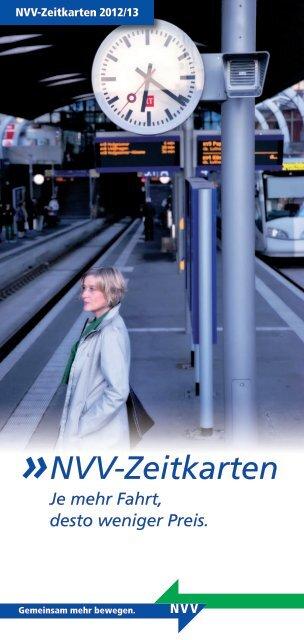 NVV-Zeitkarten Je mehr Fahrt, desto weniger Preis. - KVG