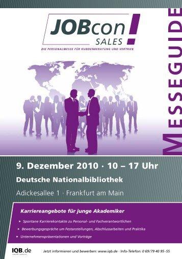 9. Dezember 2010 · 10 – 17 Uhr - IQB Career Services AG