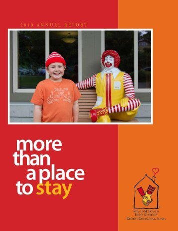 Than A Place To Stay - Ronald McDonald House