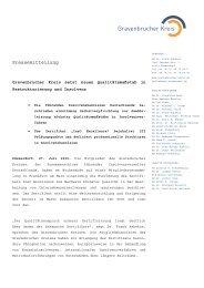 Pressemitteilung Gravenbrucher Kreis zu InsO Excellence