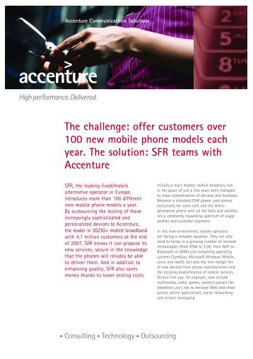 The challenge: offer customers over 100 new mobile phone models ...