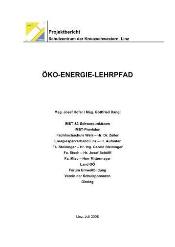 Projektbericht - Forum Umweltbildung