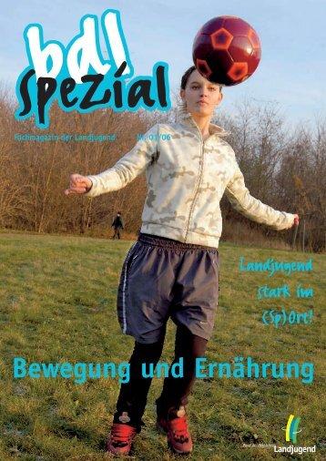 BDL-Spezial 01/06 Fachmagazin der Landjugend Termine