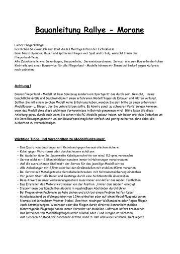 Bauanleitung Rallye - Morane - Fliegerland