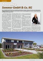 20 Jahre Sommer GmbH & Co. KG 20 Jahre Sommer GmbH & Co. KG