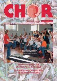 Abschlusskonzert zum Chorleitungsseminar 2005 - Saarländischer ...