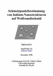 5 Indium auf Wolframdiselenid - KOPS - Universität Konstanz