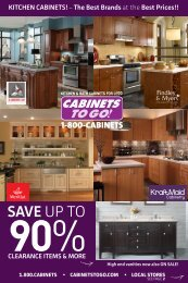 marble or granite top - Cabinets To Go
