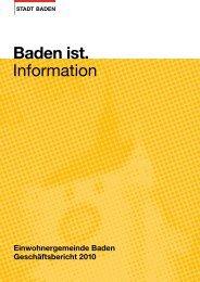 Baden ist. Information - Online Shop - Baden