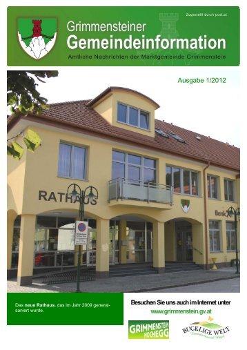 Ausgabe 1/2012 - Grimmenstein