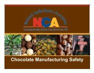 Chocolate Manufacturing Safety - National Confectioners Association