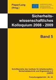 Sicherheits- wissenschaftliches Kolloquium 2008 - und ...
