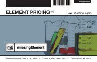 ELEMENT PRICING - missingElement