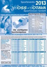 Sportereignisse 2013/14 - VOSS + VOTAVA