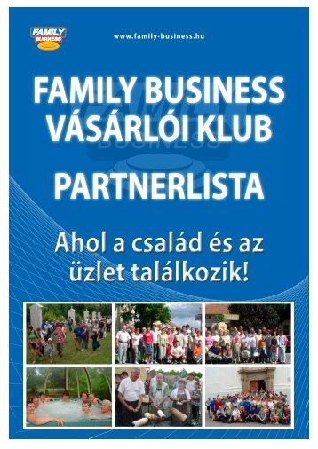 Vásárlói klub partnerkatalógus. - Family Business