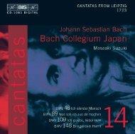 Bach Cantatas, Vol. 14 - M. Suzuki & Bach Collegium Japan (BIS CD)