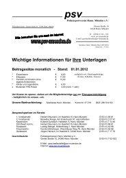 Wichtige Informationen für Ihre Unterlagen - Polizeisportverein Hann ...