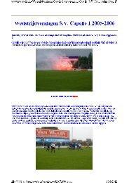 wedstrijdverslagen S.V. Capelle 1 2005-2006
