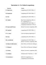 Sportarten A - Z in Velbert-Langenberg - StadtSportBund Velbert eV