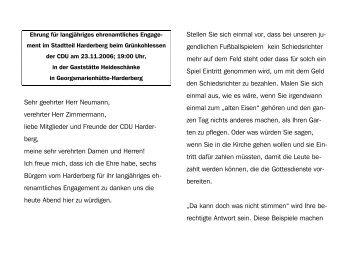 2006-11-23 CDU Harderberg Grünkohlessen - Landkreis Osnabrück